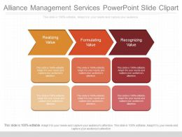 Unique Alliance Management Services Powerpoint Slide Clipart