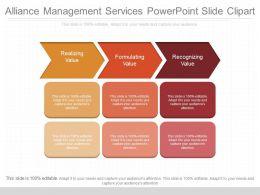 Unique Alliance Management Services Powerpoint Slide Clipart