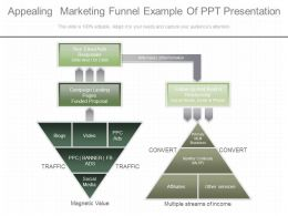 Unique Appealing Marketing Funnel Example Of Ppt Presentation