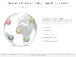 Unique Business Analysis Context Sample Ppt Ideas