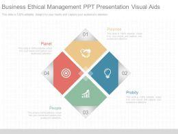 Unique Business Ethical Management Ppt Presentation Visual Aids