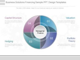 Unique Business Solutions Financing Sample Ppt Design Templates