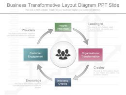Unique Business Transformative Layout Diagram Ppt Slide