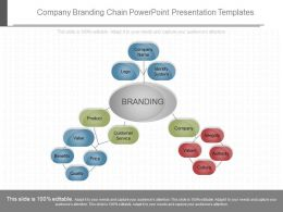 Unique Company Branding Chain Powerpoint Presentation Templates