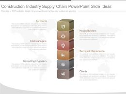 Unique Construction Industry Supply Chain Powerpoint Slide Ideas