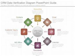 unique_crm_data_verification_diagram_powerpoint_guide_Slide01