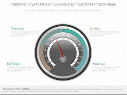 Unique Customer Loyalty Marketing Survey Dashboard Presentation Ideas