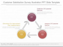 Unique Customer Satisfaction Survey Illustration Ppt Slide Template