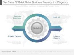 unique_five_steps_of_retail_sales_business_presentation_diagrams_Slide01