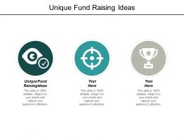 Unique Fund Raising Ideas Ppt Powerpoint Presentation Pictures Cpb