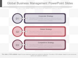 Unique Global Business Management Powerpoint Slides