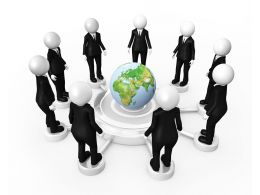 Unique Graphic Of Global Networking Stock Photo