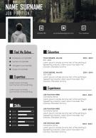 Unique Graphic Visual Resume CV Design Template