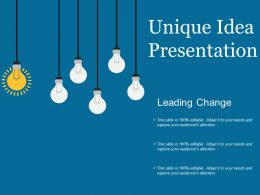 Unique Idea Presentation Ppt Background Graphics