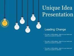 Unique Idea Presentation Ppt Background Graphics