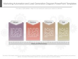 Unique Marketing Automation And Lead Generation Diagram Powerpoint Templates