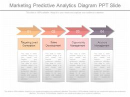 Unique Marketing Predictive Analytics Diagram Ppt Slide