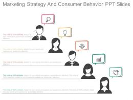 Unique Marketing Strategy And Consumer Behavior Ppt Slides