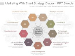 Unique Marketing With Email Strategy Diagram Ppt Sample