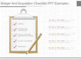 unique_merger_and_acquisition_checklist_ppt_examples_Slide01