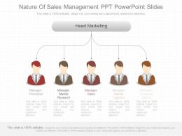 Unique Nature Of Sales Management Ppt Powerpoint Slides