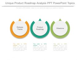 Unique Product Roadmap Analysis Ppt Powerpoint Topics