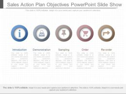 Unique Sales Action Plan Objectives Powerpoint Slide Show