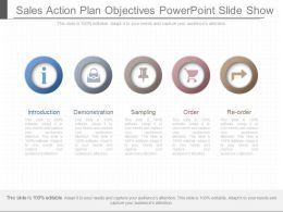 Unique Sales Action Plan Objectives Powerpoint Slide Show
