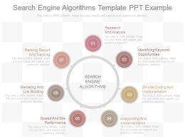 Unique Search Engine Algorithms Template Ppt Example