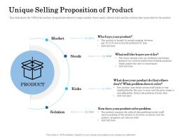 Unique Selling Proposition Of Product Ppt Gallery Slides