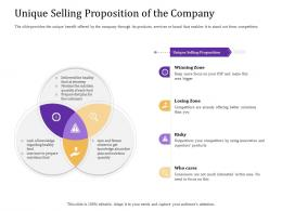 Unique Selling Proposition Of The Company Convertible Loan Stock Financing Ppt Demonstration