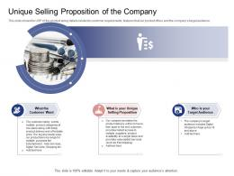 Unique Selling Proposition Of The Company Stock Market Launch Banking Institution Ppt Grid
