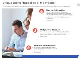 Unique Selling Proposition Of The Product N556 Powerpoint Presentation Mockup