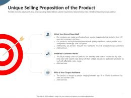 Unique Selling Proposition Of The Product Pitch Deck To Raise Seed Money From Angel Investors Ppt Slides