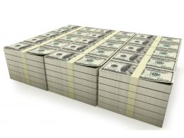 Unique Stack Of Dollars Stock Photo