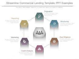 Unique Streamline Commercial Lending Template Ppt Examples