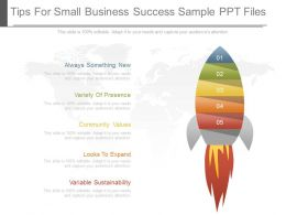 Unique Tips For Small Business Success Sample Ppt Files