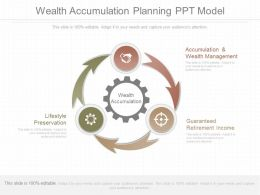 Unique Wealth Accumulation Planning Ppt Model