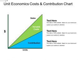 Unit Economics Costs And Contribution Chart