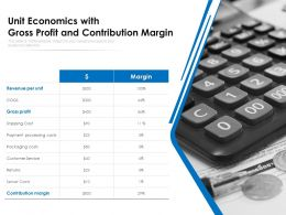 Unit Economics With Gross Profit And Contribution Margin