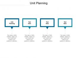 Unit Planning Ppt Powerpoint Presentation Layouts Sample Cpb
