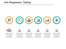 Unit Regression Testing Ppt Powerpoint Presentation Infographic Template Guidelines Cpb