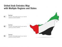 United Arab Emirates Map With Multiple Regions And States