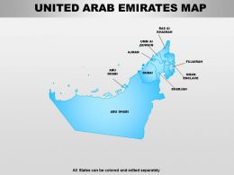 United Arab Emirates Powerpoint Maps