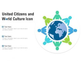 United Citizens And World Culture Icon