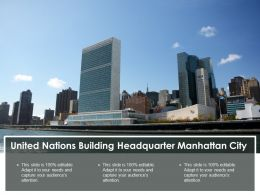 United Nations Building Headquarter Manhattan City