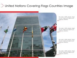 United Nations Covering Flags Countries Image