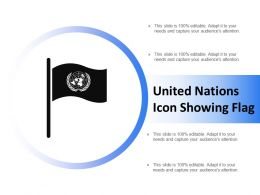 United Nations Icon Showing Flag