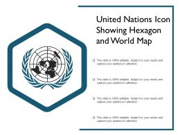 United Nations Icon Showing Hexagon And World Map
