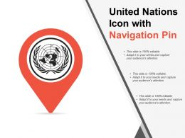 United Nations Icon With Navigation Pin